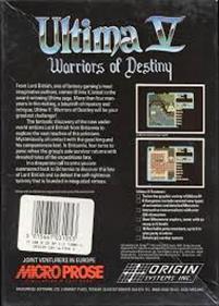 Ultima V: Warriors of Destiny - Box - Back