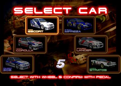 Sega Rally 2 Championship - Screenshot - Game Select