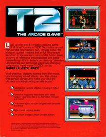 T2: The Arcade Game - Box - Back