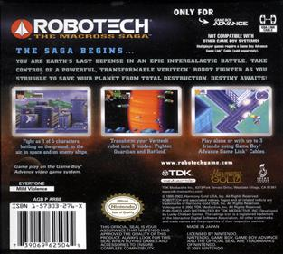 Robotech: The Macross Saga - Box - Back