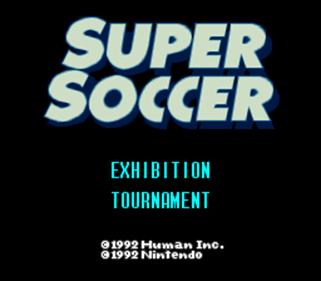 Super Soccer - Screenshot - Game Title