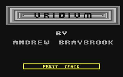 Uridium - Screenshot - Game Title