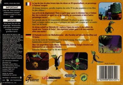 Gex 64: Enter the Gecko - Box - Back