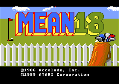 Mean 18 Ultimate Golf - Screenshot - Game Title