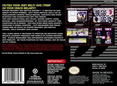 Power Rangers Zeo: Battle Racers - Box - Back