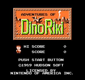 Adventures of Dino Riki - Screenshot - Game Title