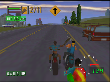 Road Rash 64 - Screenshot - Gameplay
