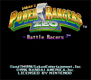 Power Rangers Zeo: Battle Racers - Screenshot - Game Title