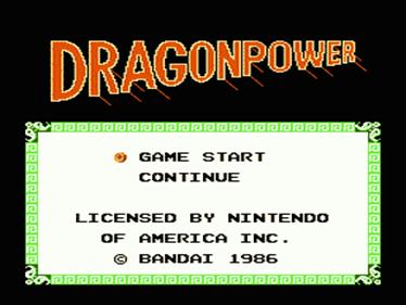 Dragon Power - Screenshot - Game Title