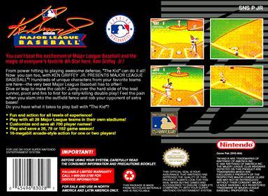 Ken Griffey Jr. Presents Major League Baseball - Box - Back