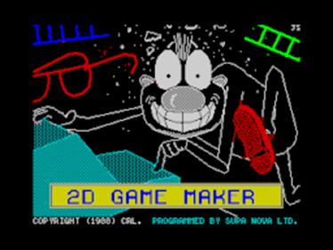2D Game Maker - Screenshot - Game Title