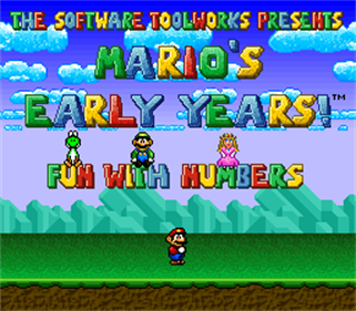 Mario's Early Years: Fun with Numbers - Screenshot - Game Title