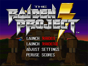The Raiden Project - Screenshot - Game Select