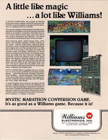 Mystic Marathon - Advertisement Flyer - Back