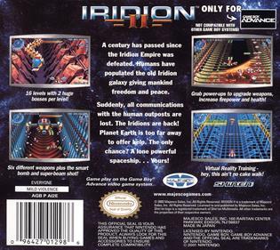 Iridion II - Box - Back