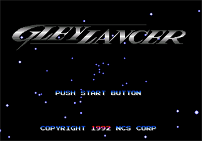 Advanced Busterhawk Gley Lancer - Screenshot - Game Title