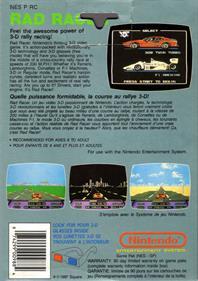Rad Racer - Box - Back