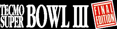 Tecmo Super Bowl III: Final Edition - Clear Logo