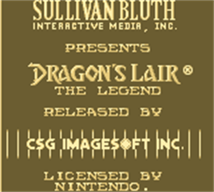 Dragon's Lair: The Legend - Screenshot - Game Title