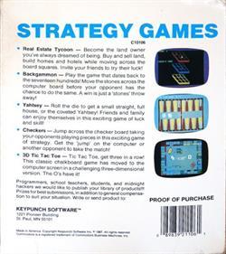 3D Tic-Tac-Toe (COMPUTE! Publications, Inc.) - Box - Back