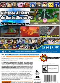 Super Smash Flash 2 - Box - Back