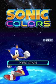 Sonic Colors - Screenshot - Game Title