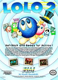 Adventures of Lolo 2 - Advertisement Flyer - Front