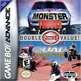 2 Games in 1: Quad Desert Fury + Monster Trucks