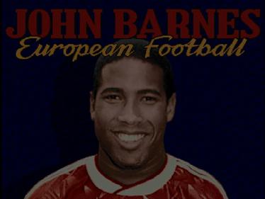 John Barnes European Football - Screenshot - Game Title