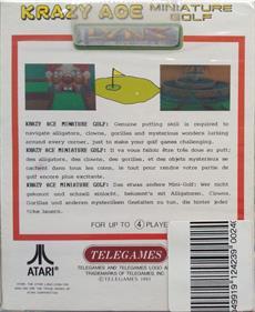 Krazy Ace Miniature Golf - Box - Back