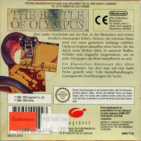 The Battle of Olympus - Box - Back