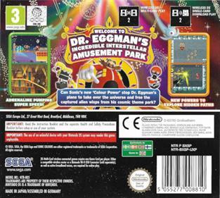 Sonic Colors - Box - Back
