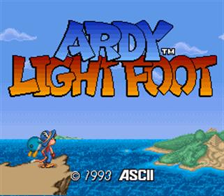 Ardy Lightfoot - Screenshot - Game Title