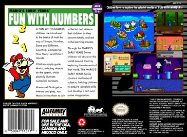 Mario's Early Years: Fun with Numbers - Box - Back