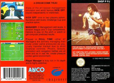 Kevin Keegan's Player Manager - Box - Back