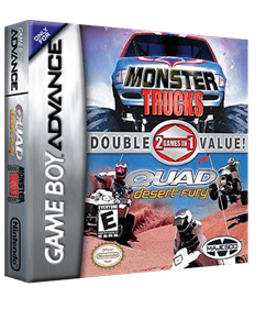 2 Games In 1 Double Value!: Monster Trucks / Quad Desert Fury - Box - 3D