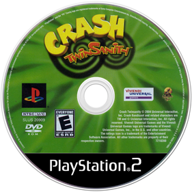 Crash Twinsanity - Disc