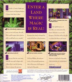 The Legend of Kyrandia: Book One - Box - Back