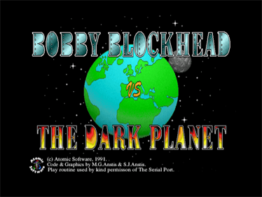 Bobby Blockhead vs the Dark Planet - Screenshot - Game Title