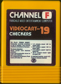 Videocart-19: Checkers - Cart - Front