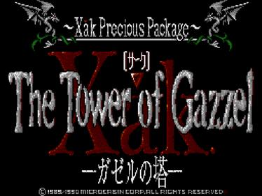 Xak III: The Tower of Gazzel  - Screenshot - Game Title