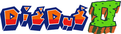 Dig Dug II: Trouble in Paradise - Clear Logo