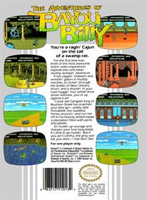 The Adventures of Bayou Billy - Box - Back