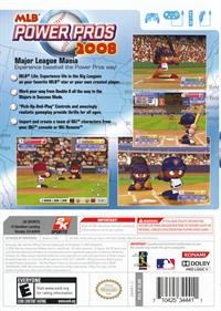 MLB Power Pros 2008 - Box - Back