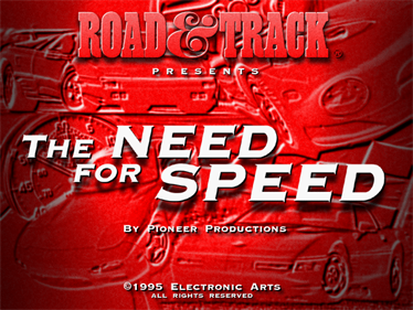 The Need for Speed - Screenshot - Game Title