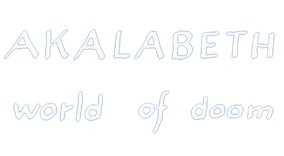 Akalabeth: World of Doom - Clear Logo
