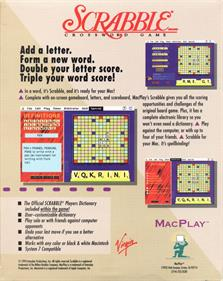 Deluxe Scrabble for Windows - Box - Back