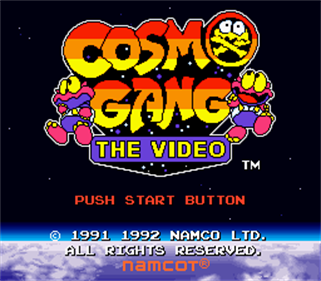 Cosmo Gang: The Video - Screenshot - Game Title