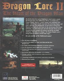 Dragon Lore II: The Heart of the Dragon Man - Box - Back