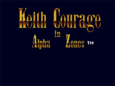 Keith Courage in Alpha Zones - Screenshot - Game Title